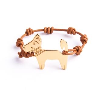 【ミアズ】MIA's DOG! ホワイトブラウンゴールド