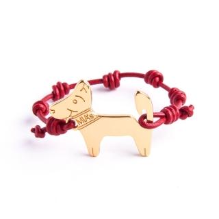【ミアズ】MIA's DOG! ワインレッドゴールド