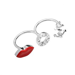 【ミアズ】MIA's Luxury Double Rings アンカーリップシルバー