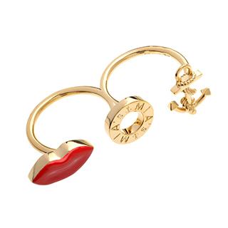 【ミアズ】MIA's Luxury Double Rings アンカーリップゴールド