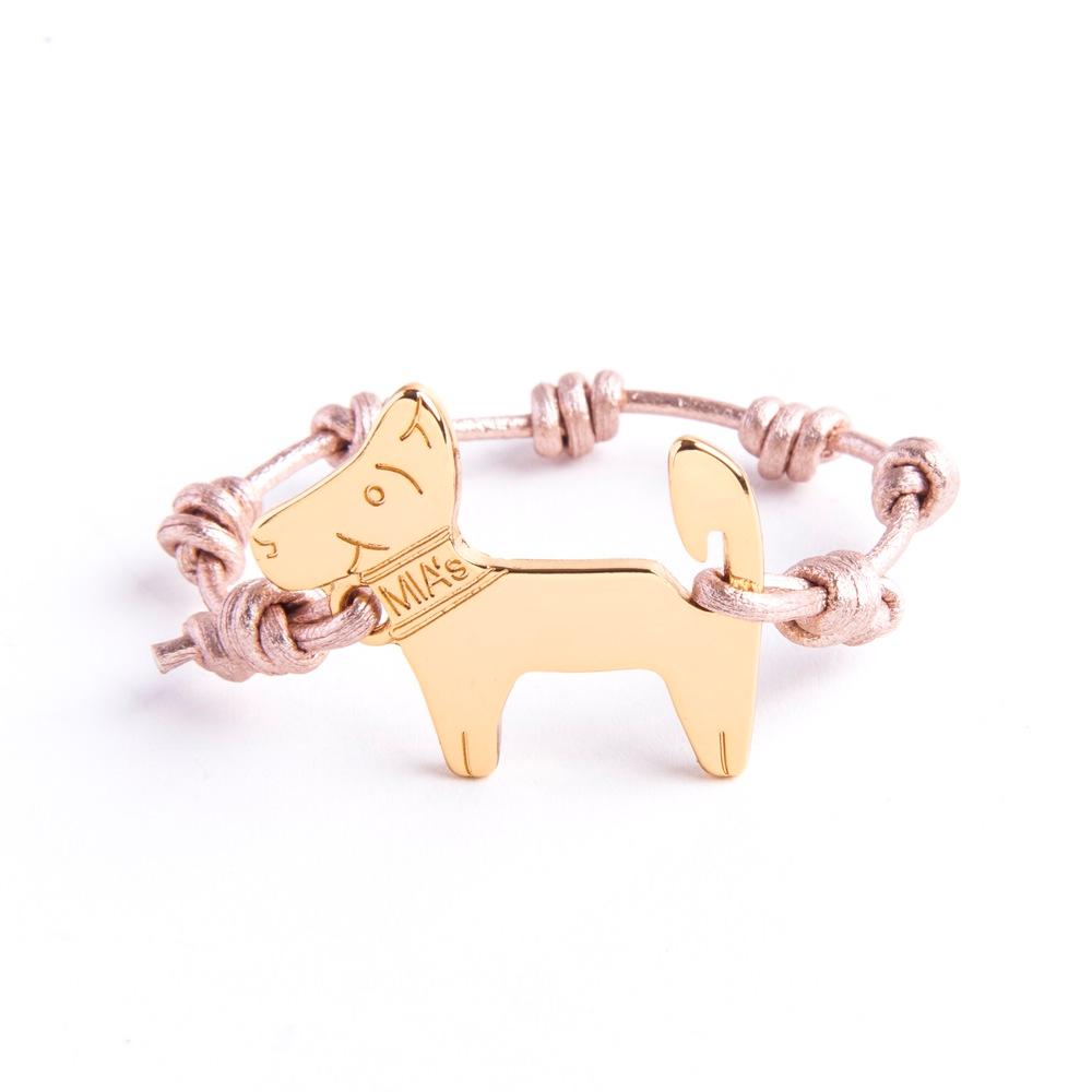【ミアズ】MIA's DOG! メタルピンクゴールド